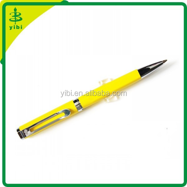 HCH-R281 promotion custom yellow metal ball pen ballpoint pen ad pen