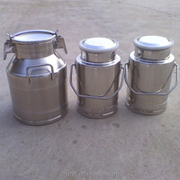 Stainless steel milk storage bucket