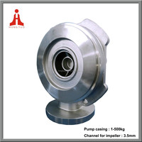 Stainless steel machined casting water centrifugal pump casing body shell covers