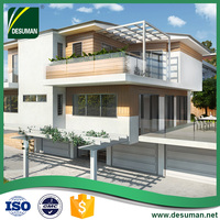 Cheap modern luxurious prefabricated light steel frame structure prefab villa for sale