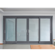 ROGENILAN 139 series powder coated thermal break aluminum sliding door with built-in blinds