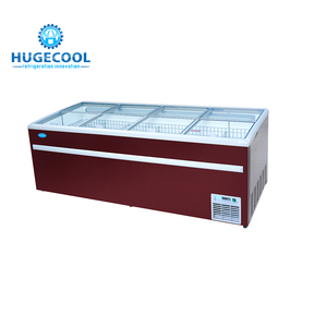 Commercial retail refrigerator open display island freezer
