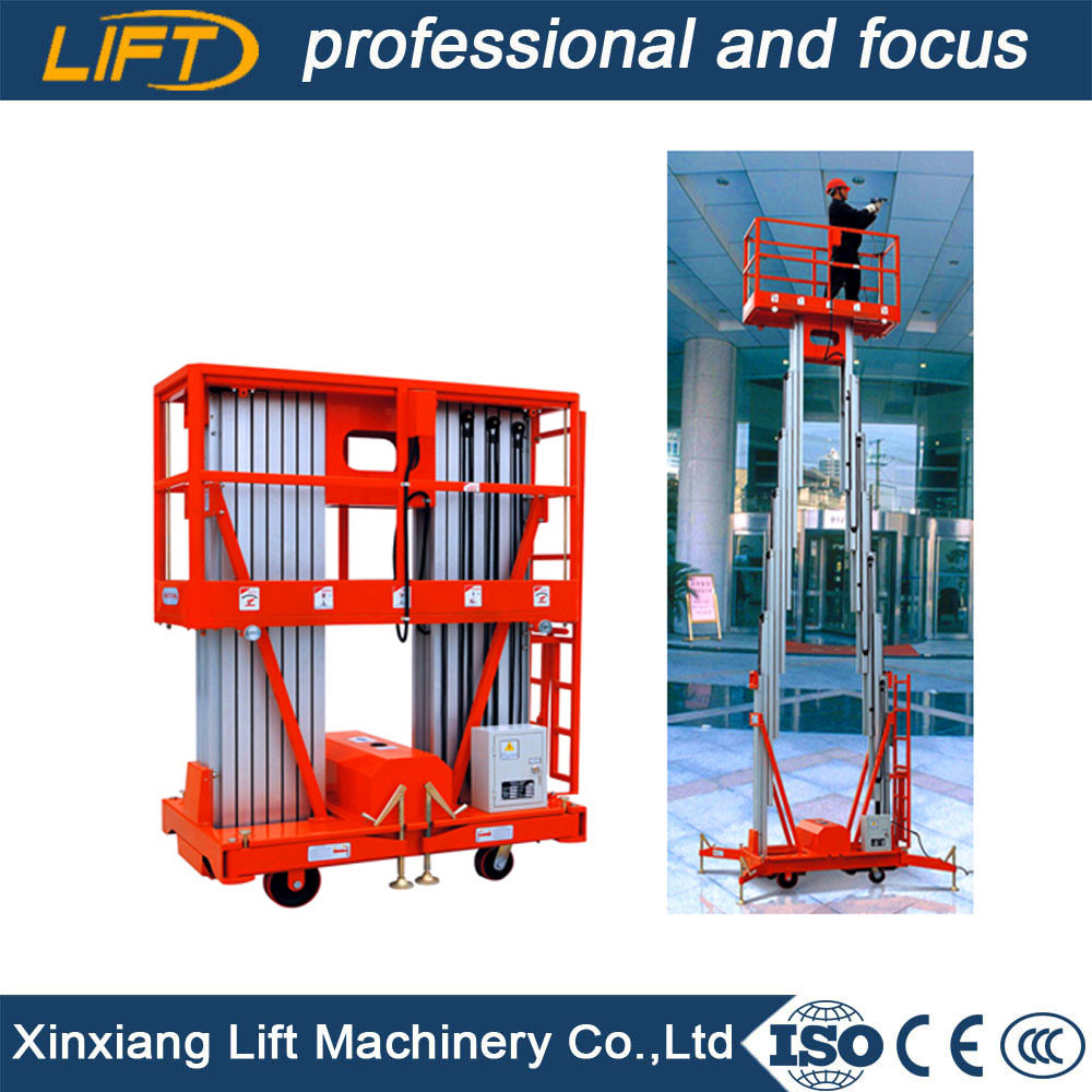 Window cleaning double mast platform lift with low price