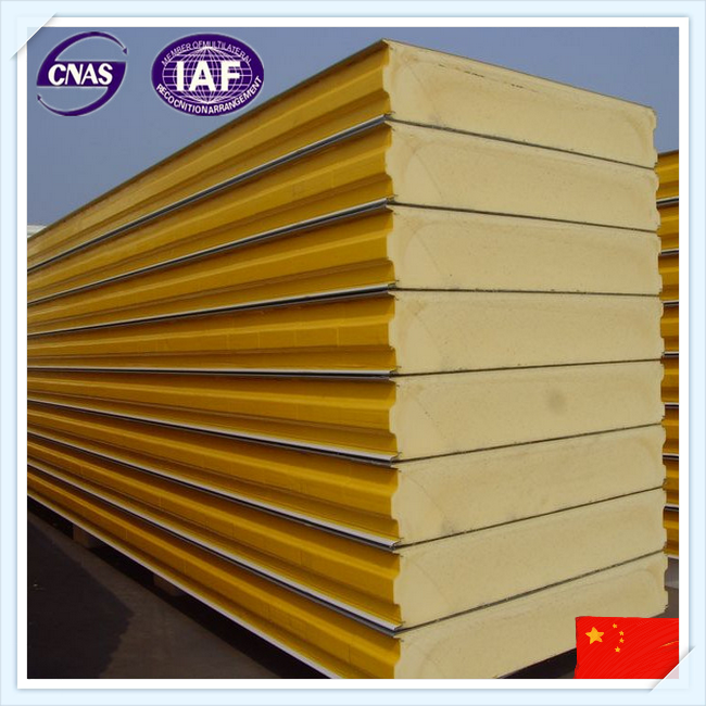 Green polyurethane sandwich panel for cold store