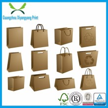 Custom Vertical Version Kraft Paper Bag For Shopping/Gift