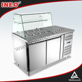 free standing salad cooler showcase/seafood showcase/refrigerated showcase
