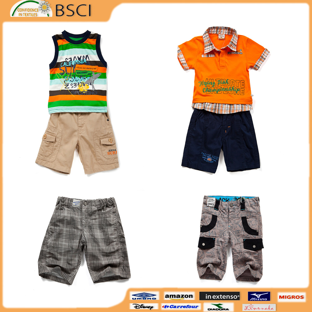 boys children clothing set summer casual short sleeve T-shirt two sets of suits young children models