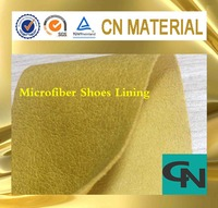 high quality PU microfiber pig grain shoes lining leather material