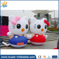 Factory price giant inflatable cartoon character Hello Kitty for decoration