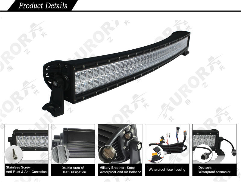 AURORA 500W 50inch dual row curved Offroad led light bar