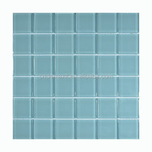 Pure color no water absorption enamel mosaic for kitchen decor mosaic tiles for bathroom