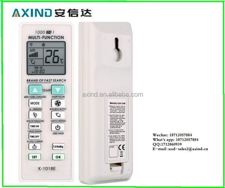 <strong>1000</strong> in 1 K-1018E universal FOR hisense gree midea air conditioner remote control