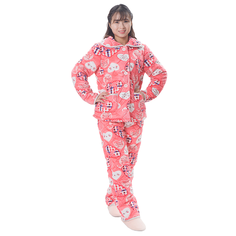 Women hot sell velvet pajamas ladies dressing gowns