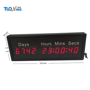 1 inch 10 digits led days countdown clock timer
