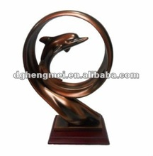 bronze finish small animal sculpture