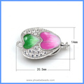 Trendy Heart Shape Enameled Zircon Micro Pave 925 Sterling Silver Box Clasps For Pearl Gemstone Necklace Bracelet SC-BC216