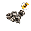 M8 Titanium Crankset Bolt crank Arm Fixing Bolt chainring for single chainring titanium MTB road bike used