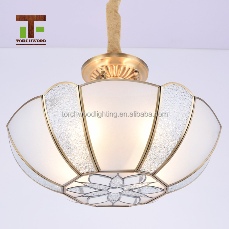 e14 4 lights classic clear glass round led hammered concise copper pendant light canopy