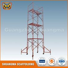 Light weight movable h frame steel scaffolds types