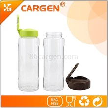 Private label carabiner plastic clear sport water bottle