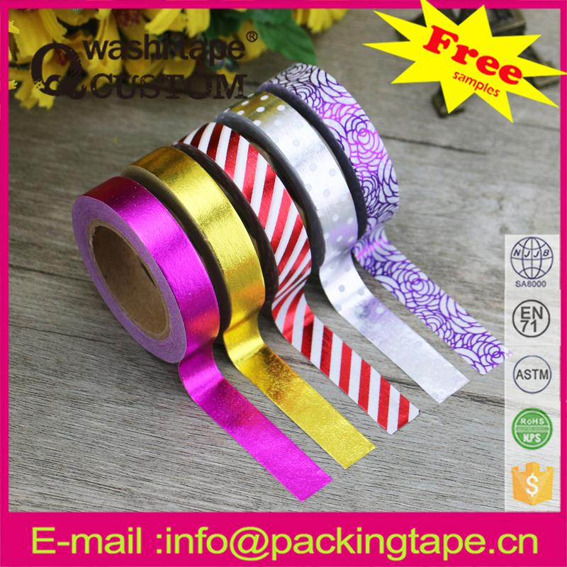 High quality famous brand hot sale custom printed foil tape china supplier
