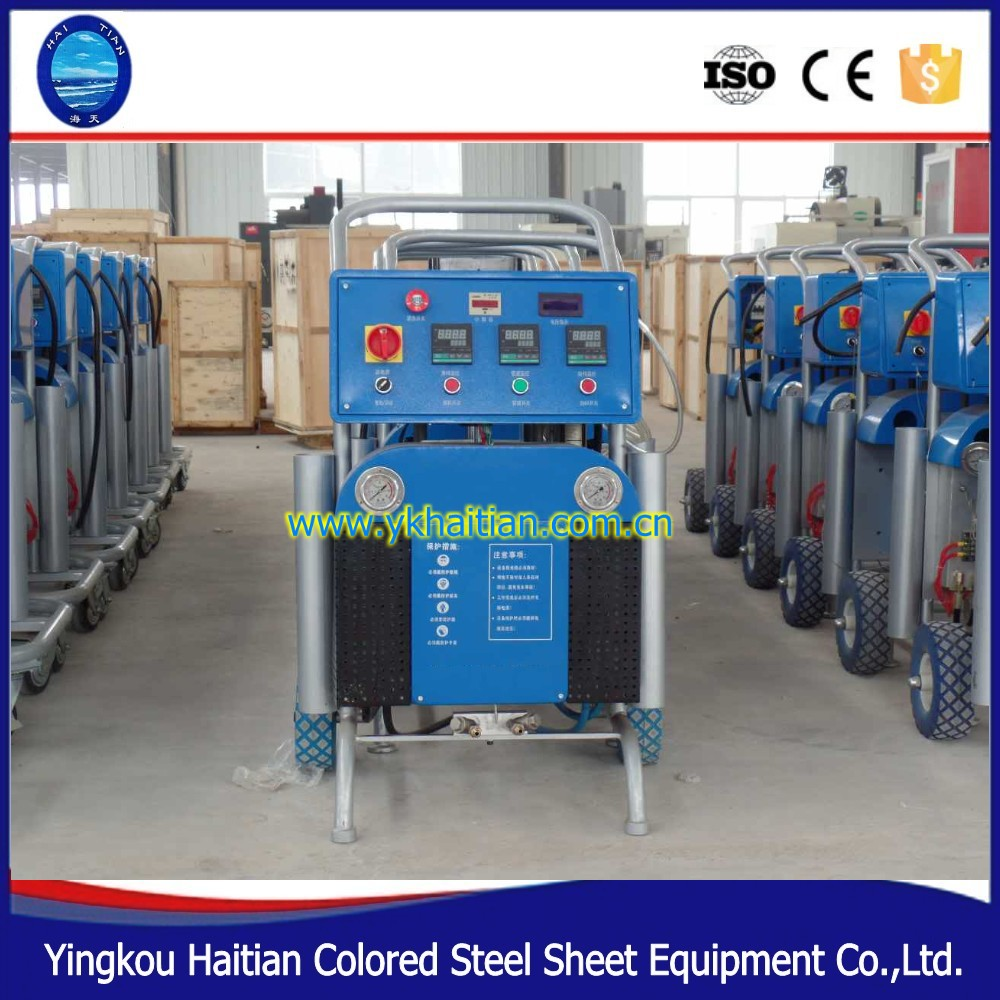 China Supplier High pressure Pneumatic PU Wall and roof polyurethane foam spray machine