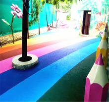 no-toxic coloful outdoor playground rubber flooring walking rubber flooring