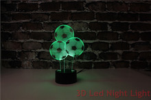 Promotional Football Shape Colors Changeable 3D Led Dim Night Light YJM-288