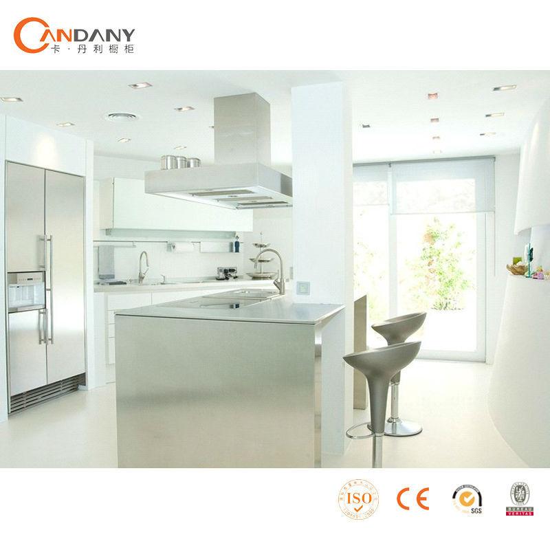 Arm rio de cozinha com acr lico painel da porta perfil de alum nio para arm rio de cozinha - Perfiles de aluminio para armarios ...