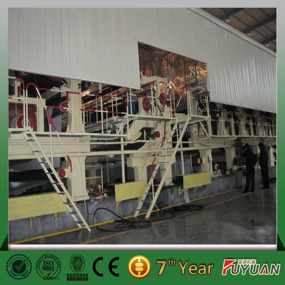 3800/300m/min four-layer fourdrinier white cardboard and ivory board or grey board paper making machine