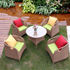 wholesale outdoor furniture rattan patio coffee shop table and chairs