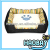 Bright Green And Yellow Collocation Stripe Fashion Designer Dog Bed Large Pet Products