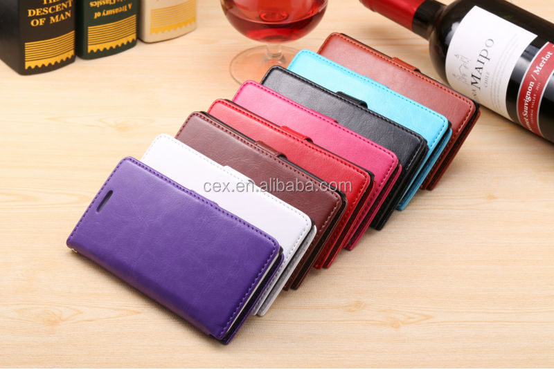 High Quality Vintage Magnetic Flip PU Leather Case with Card Slot Holder Stand Case For HuaWei Ascend G6