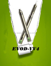2014 Newest e cig variable voltage evod battery evod vv4 1300 with big battery