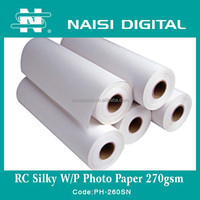 260gsm RC silk photo paper for dye and pigment ink
