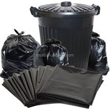 HDPE/LDPE plastic customed heavy duty c-fold garbage/trash/refuse/rubbish bag in roll