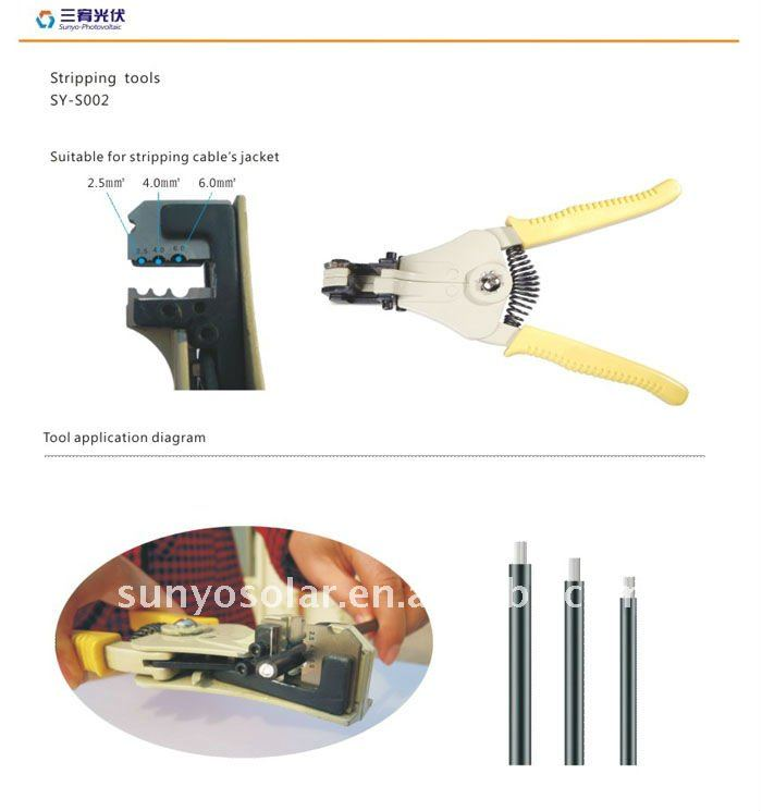 MC4 PV Crimping tool Stripping tool for solar cable