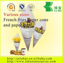 DT205 Custom logo paper cone packaging for chips with PE coated paper