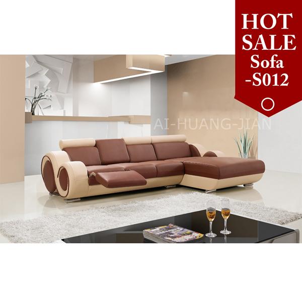 Philippines Furniture Orange Leather Corner Sofa Set Designs - Buy ...