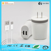 Electric type mobile phone and tablet use 5v 2.1A Dual usb wall charger for sale