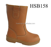 knee high fur lined warm keeping steel toe insert safety rigger boots /miner boots