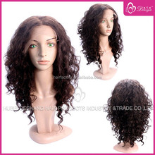 Afro curly brazilian human hair full lace wig