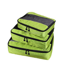 green Packing Cubes - waterproof high density nylon Travel Organizers with Laundry Bag