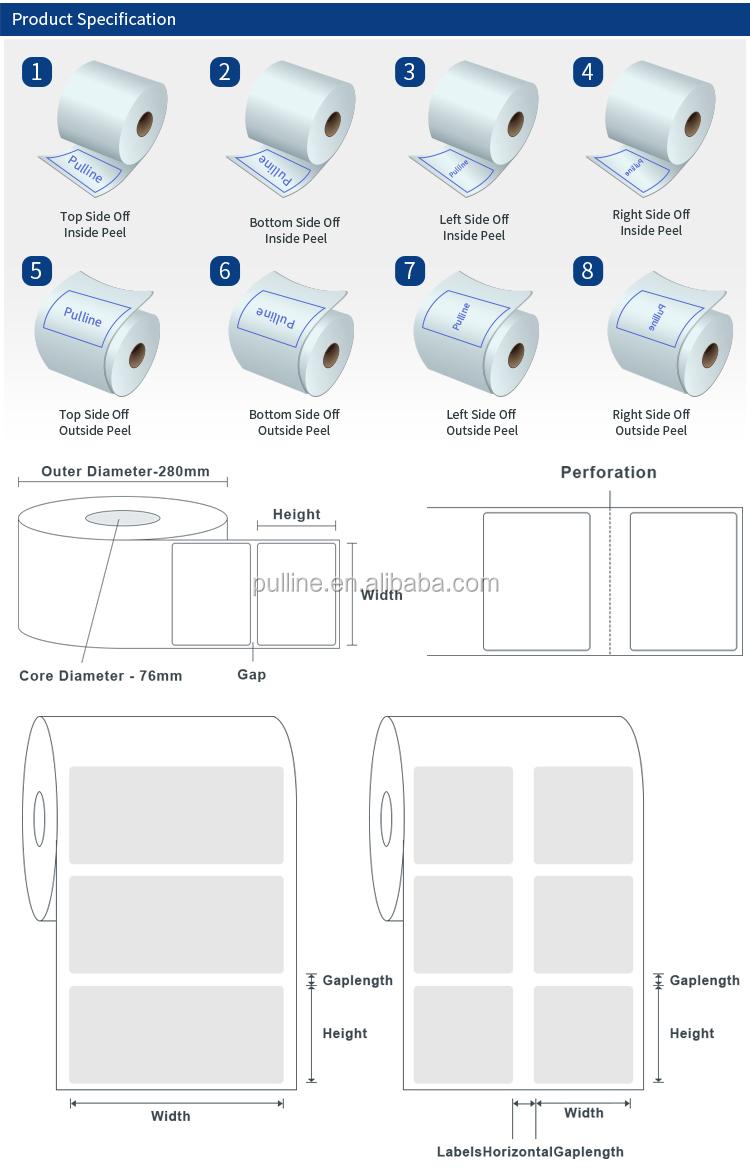 NENHUM MOQ rótulo Transparente clara adesivo de vinil