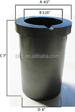 99.9% High Purity Graphite Casting Melting Crucible 1 / 2 / 3KG For Gold Silver