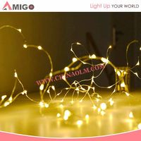 2016 Button Battery Operated High Quality Outdoor Fairy LED String Lights Wholesale