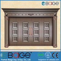 BG-C9012 Front imitation copper entry door in china