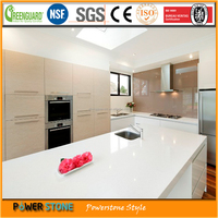 Super White Quartz Dining Table Top For House Design