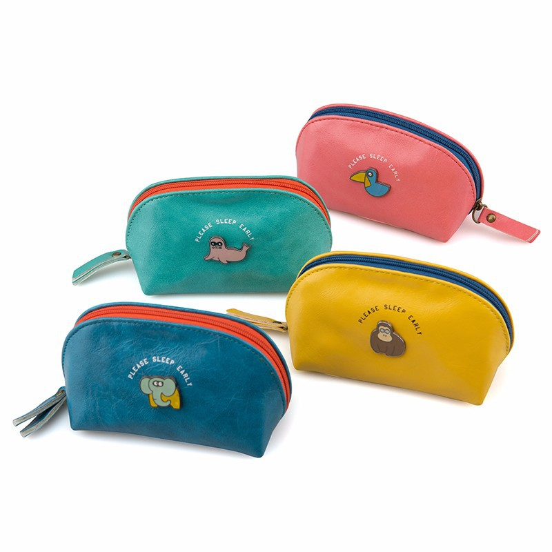 Languo small storage bag cute animal PU leather coin purse in candy colors