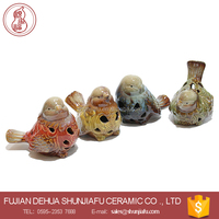 wholesale small ceramic birds for garden or home decorations